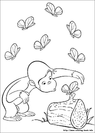 cute monkey 13 curious george coloring pages kids print