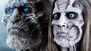 Halloween Makeup Games Game Of Thrones White Walker Face Paint Original Youtube