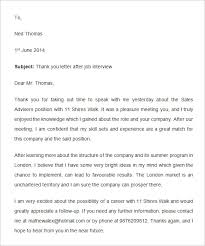 9 thank you email template after interview u2013 free samples