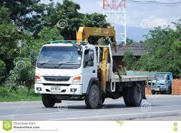 mitsubishi fuso truck private mitsubishi fuso truck with crane editorial photography