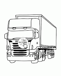 camion truck coloring page for kids transportation coloring pages