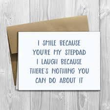 printed i smile because you u0027re my stepdad 5x7 greeting card