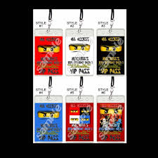 ninjago party supplies lego ninjago set of 12 vip party invitation passes or party favors