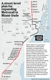 Map Of South Beach Miami by New Tack On Expanding Metrorail Put The Tracks On The Street