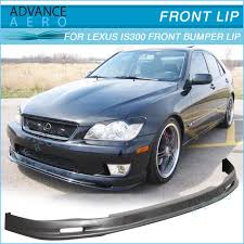 02 lexus is300 front bumper lip mugen style poly urethane for 01 02 03 lexus