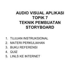 rpp membuat storyboard audio visual aplikasi topik 8 pembuatan proposal project ppt download