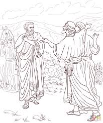 jesus healed the son of the nobleman coloring page free