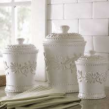 kitchen flour canisters white ceramic kitchen canister sets ebay
