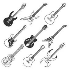 Bass Guitar Tattoo Ideas Aplaceforart Acoustic Guitar Linocut Print More Art Here