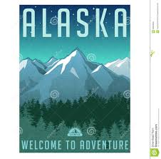 Alaska how to travel for free images Retro style travel poster or sticker alaska stock vector image jpg