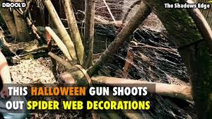 this halloween gun shoots out spider web decorations youtube