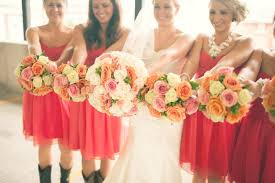allerton wedding florist coral and cowboy bootsblossom basket blog