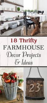 Thrifty Farmhouse Decor Projects  Ideas - Thrifty home decor