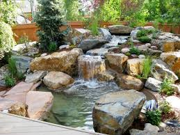 custom designed waterfalls ponds fountains new england lawn