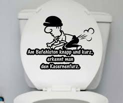 wc sprüche wc deckel aufkleber kasernenfurz toilette männer spruch sprüche