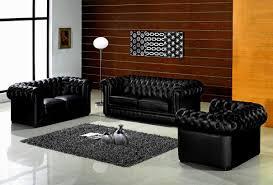 Living Room Decor Black Leather Sofa Living Room Great Elegant Black Leather Sofa Sets For Living