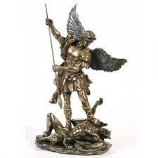 home decor statues archangel st michael 10 inch statue bronze resin christian art