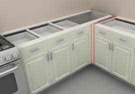 corner kitchen cabinet what to do avoid awkward look on it and