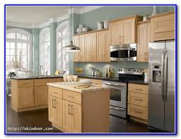colors for kitchen with light wood cabinets painting home