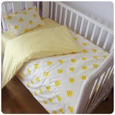 Yellow Crib Bedding Set 3pcs Set Baby Crib Bedding Set Yellow Duck And