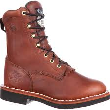 womens brown motorcycle boots georgia boot women u0027s chemical resistant lacer work boot