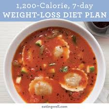 7 day diet meal plan to lose weight 1 200 calories eatingwell