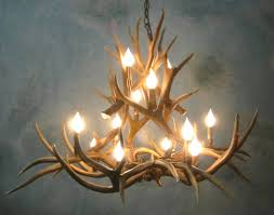 fake deer chandeliers design awesome small faux antler chandelier with