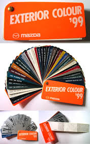 aus official mazda items press kit color book stickers