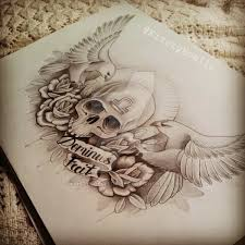 skull eagle and chest design by kirstynoelledavies on