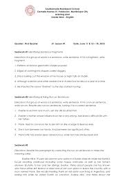 lesson plan fragments and run on sentences