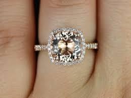 morganite engagement ring gold barra 9mm 14kt gold morganite halo engagement ring