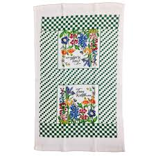 wildflowers cotton dish towel guenther house