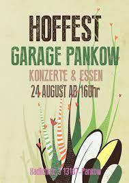 plakat design poster garage pankow tó