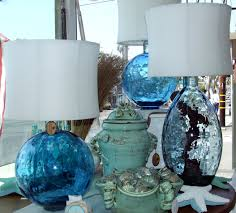table lamps image of coastal table lamps ideas blue glass lamp