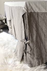 natural heavy weight rustic linen bed skirt dust ruffle valance
