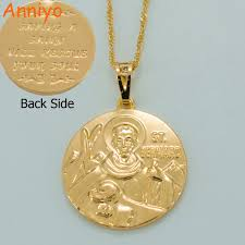 catholic necklaces anniyo st bernard necklaces cross catholic patron jewelry st