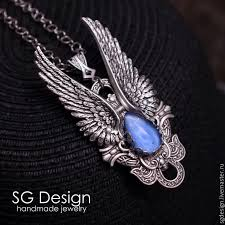 handmade angel necklace images Silver plated pendant quot angel quot kyanite necklace wings shop jpg