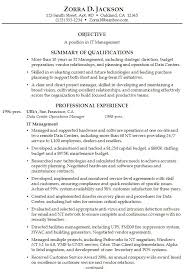 Objective In Resume For Experienced Software Engineer Free by Summary On A Resume Examples Resume Example And Free Resume Maker
