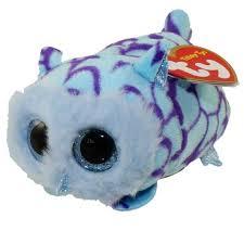 ty beanie boos teeny tys stackable plush mimi blue owl 4