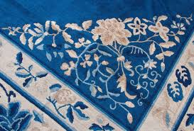 Shabby Chic Area Rugs Antique Navy Chinese Beijing Area Rug Vintage Shabby Chic For Sale