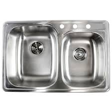 double bowl kitchen sink inch stainless steel top mount drop in 60 40 double bowl kitchen