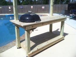weber kettle grill table great weekend project exterior home