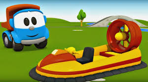 leo the truck and hover craft cars and trucks for kids cartoon