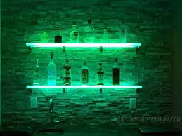 Neon Bar Lights Led Lighted Shelves Back Bar Shelving For Home Bars U0026 Restaurants