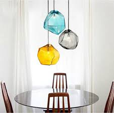 Glass Ceiling Pendant Light Modern Design Color Glass Hanging Lighting Ceiling L