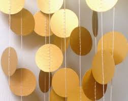 gold wedding decorations gold garland bridal shower decor