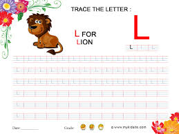 worksheet for letter l