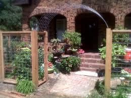 cedar and welded wire fence with arch projects ravenscourt