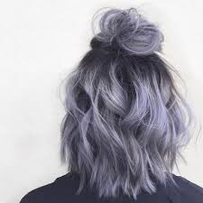 shag haircut brown hair with lavender grey streaks 4 973 likes 12 comments hair extensions color inspo vpfashion