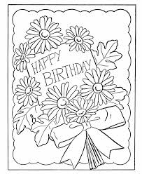 birthday coloring pages birthday card flowers diy crafts